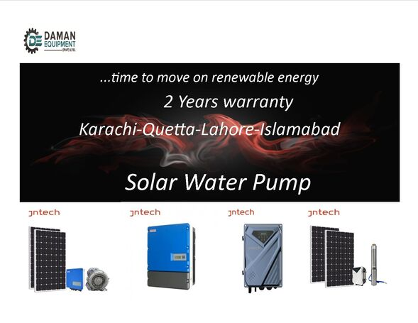 SOLAR WATER PUMP 300FEET DEPTH  WITH   INVERTER – PANELS  DELIVERY ALL OVER PAKISTAN/