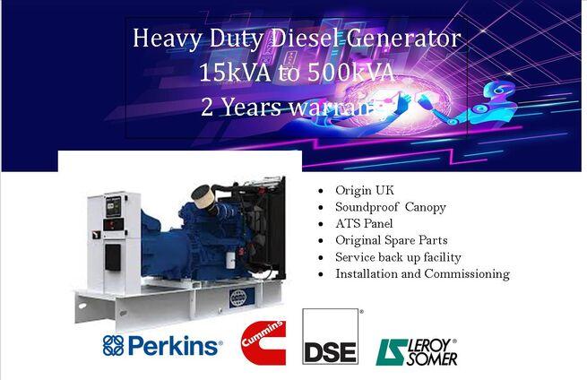 PERKINS UK DIESEL GENERATOR 150KVA  18 MONTHS  WARRANTY INSTALLATION FACILITY /