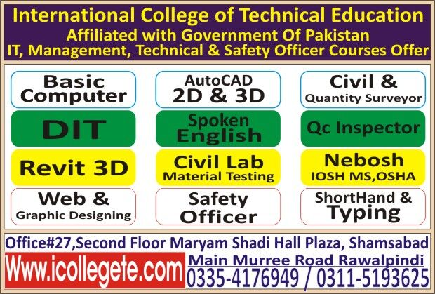 Professional Quantity Surveyor QS experience based Mofa attested diploma in rawalpindi For Bahrain