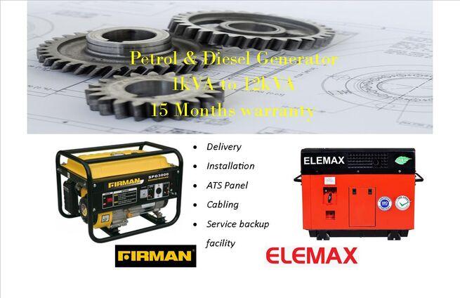 Portable Generator   Brand Firman FPG 8000 E2